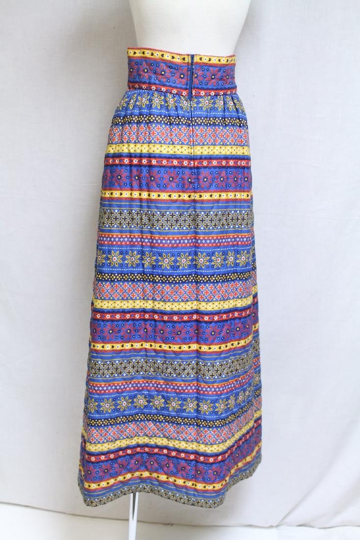 Vintage 1970s Lanz Quilted Maxi Skirt - 3