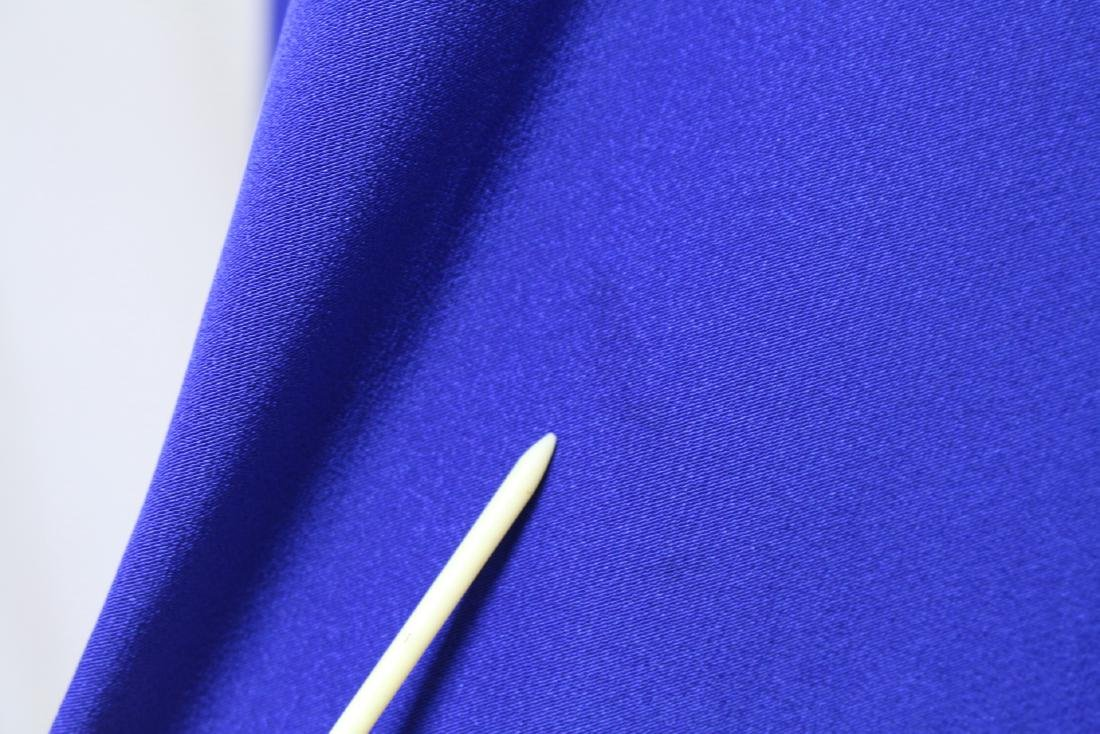 Vintage 1940s Royal Blue Rayon Gown - 5