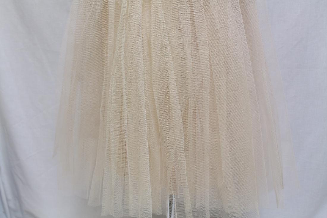 Vintage 1950s Pale Peach Party Dress - 8