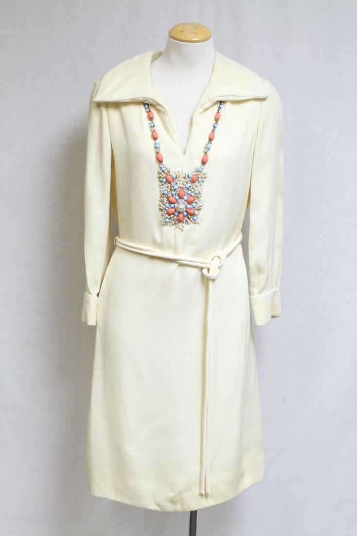 Vintage 1960s I. Magnin Beaded Dress
