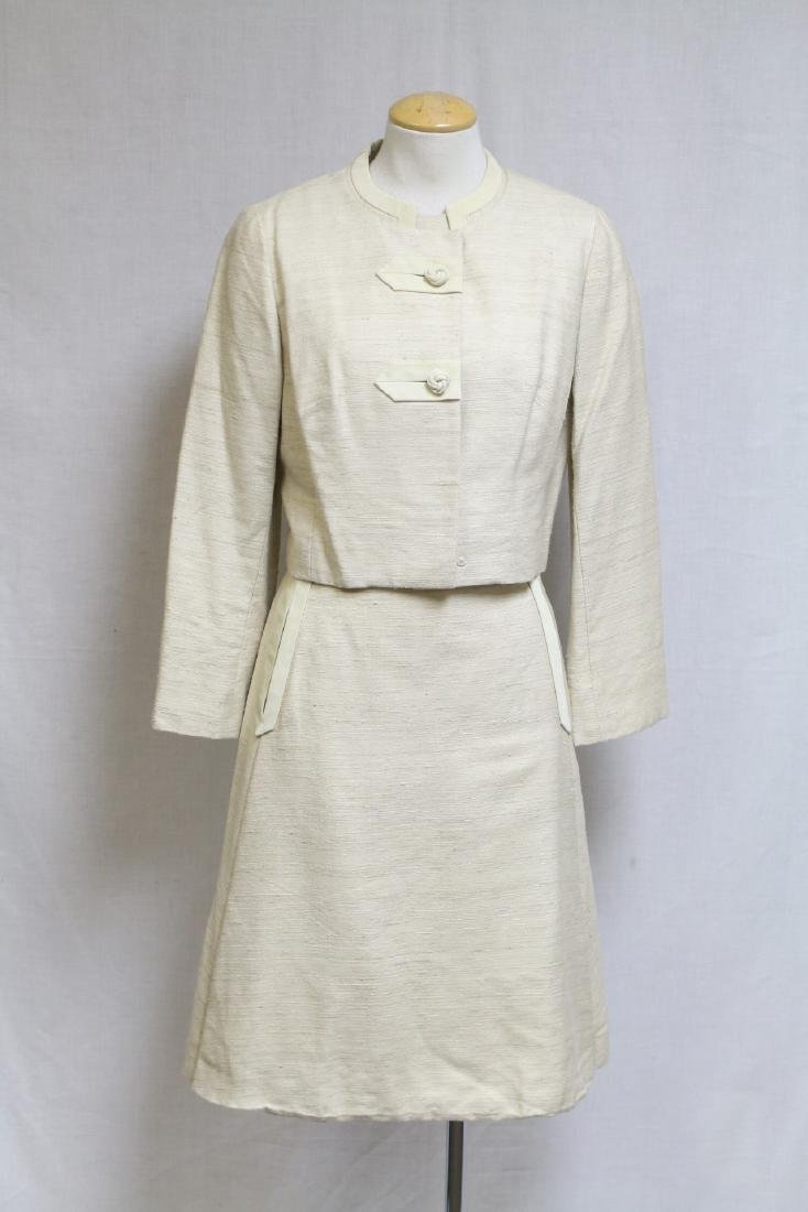 Vintage 1960s Beige Dress & Jacket Set