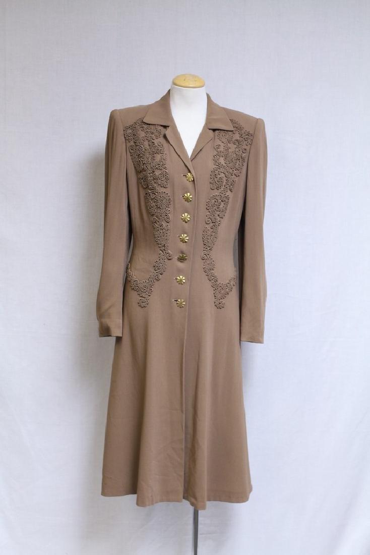 Vintage 1940s Beige Wool Coat