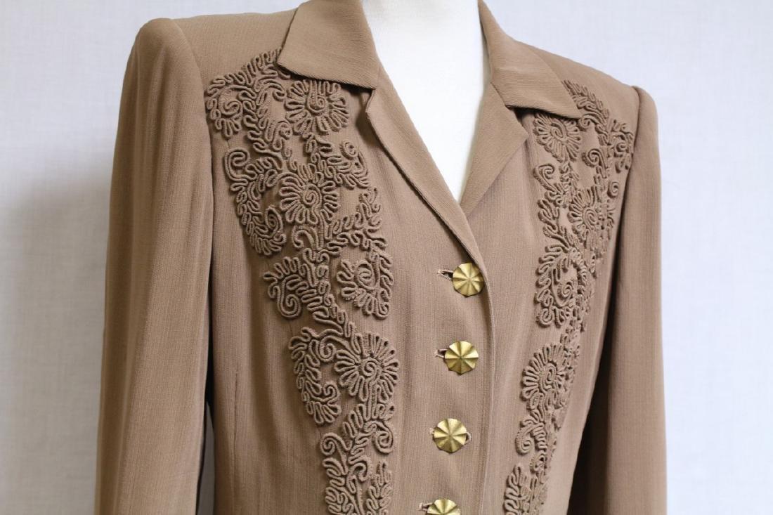 Vintage 1940s Beige Wool Coat - 2
