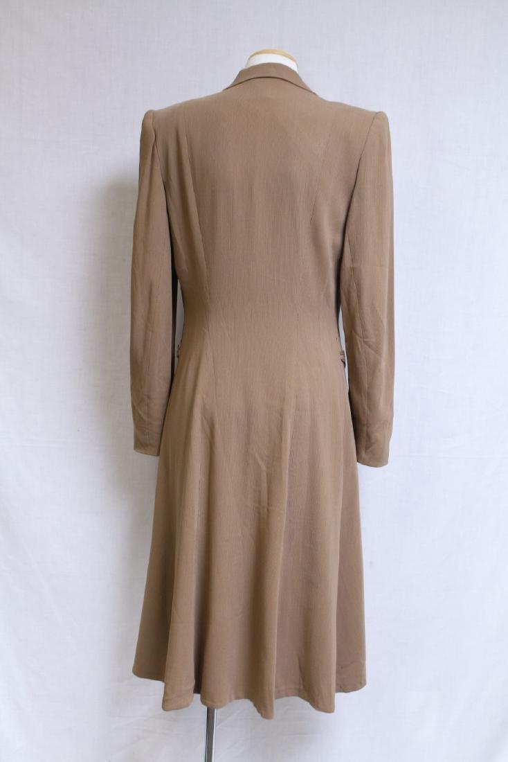 Vintage 1940s Beige Wool Coat - 5