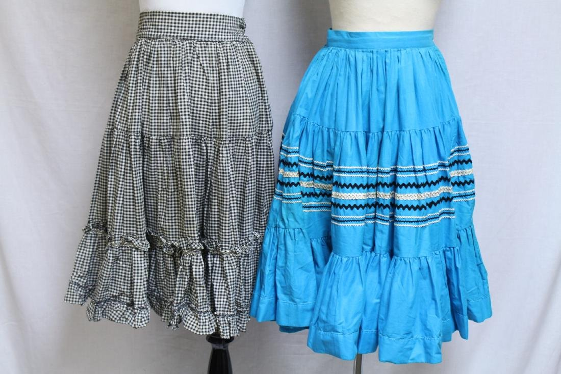 Vintage Lot of 2 1960s Square Dance Skirts