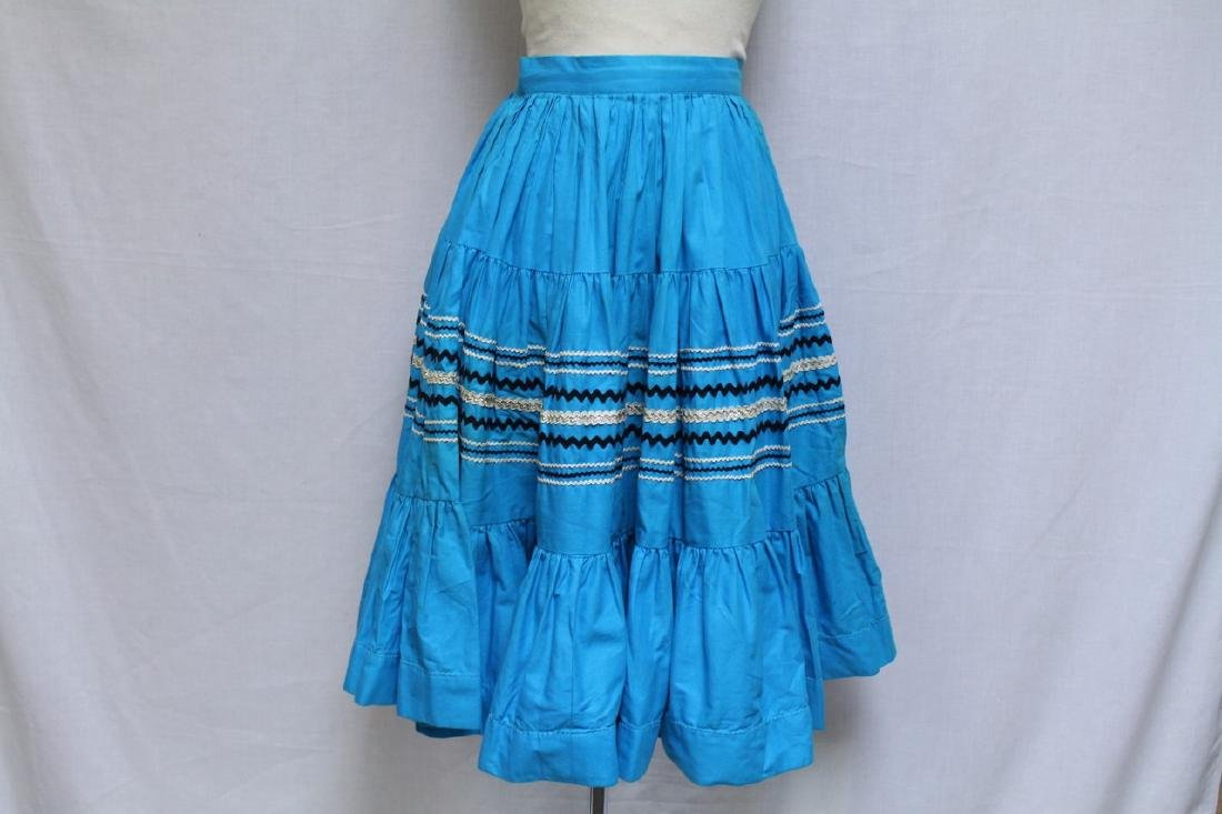 Vintage Lot of 2 1960s Square Dance Skirts - 6