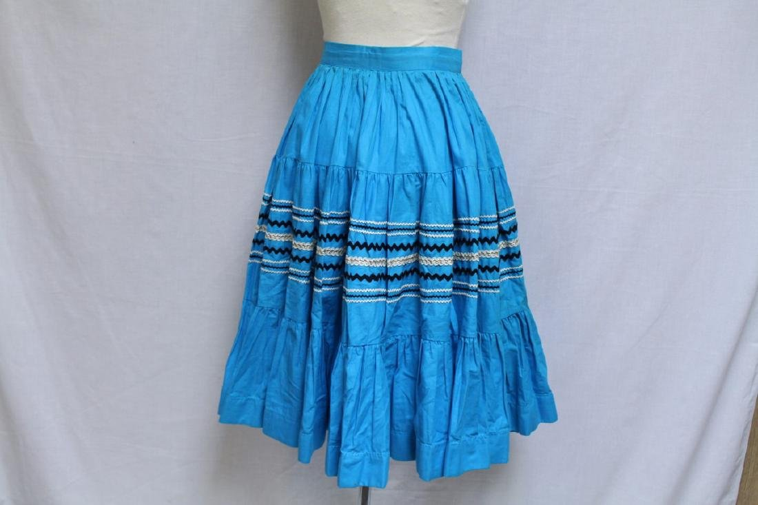 Vintage Lot of 2 1960s Square Dance Skirts - 9