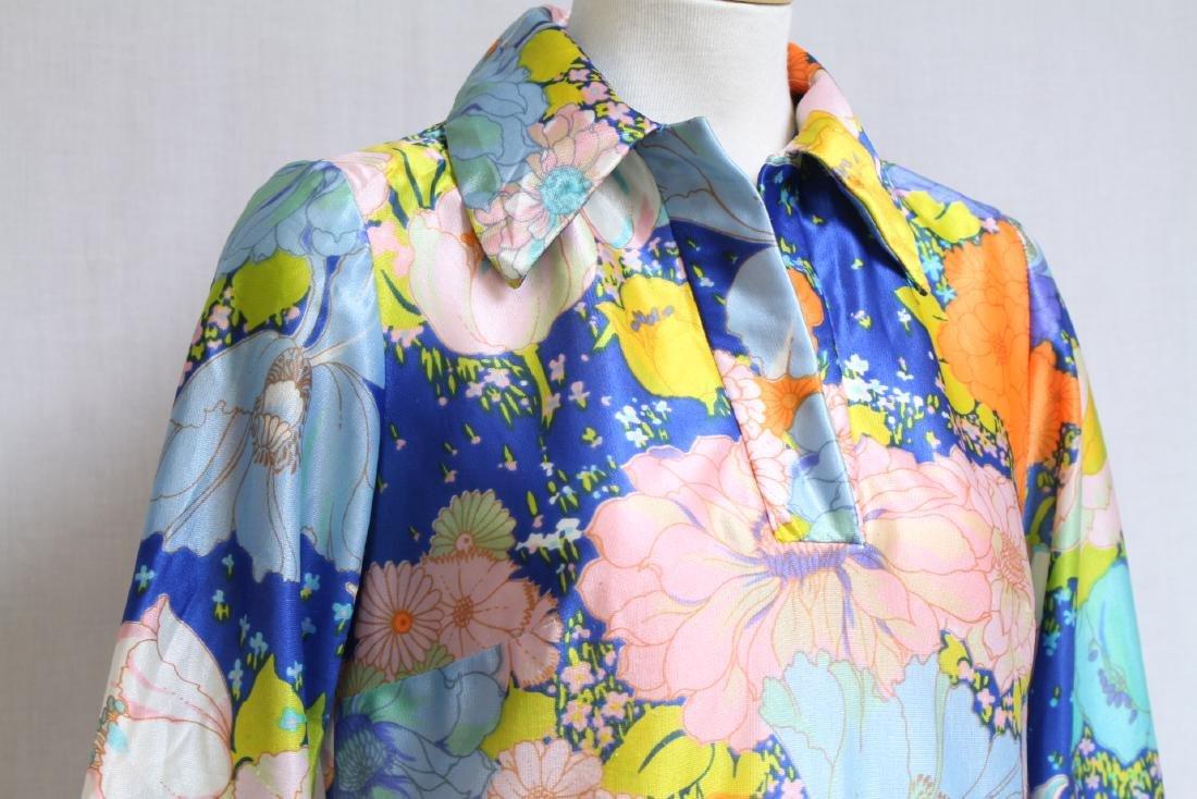 Vintage 1970s Bright Floral Blouse - 2