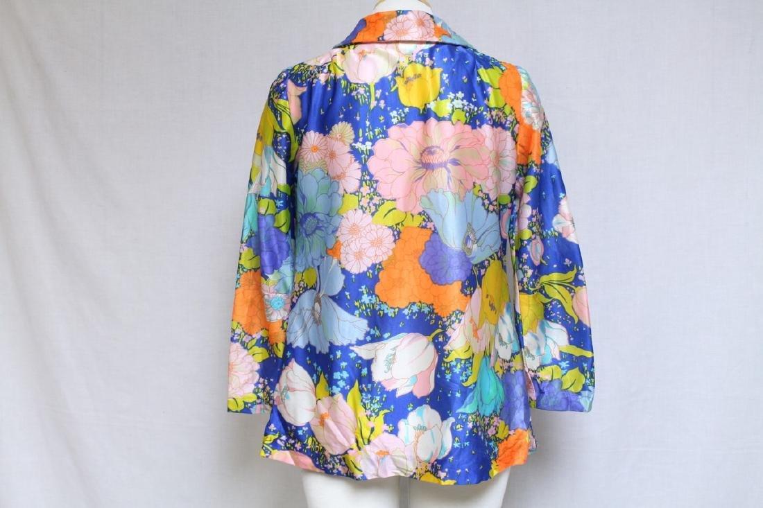 Vintage 1970s Bright Floral Blouse - 3