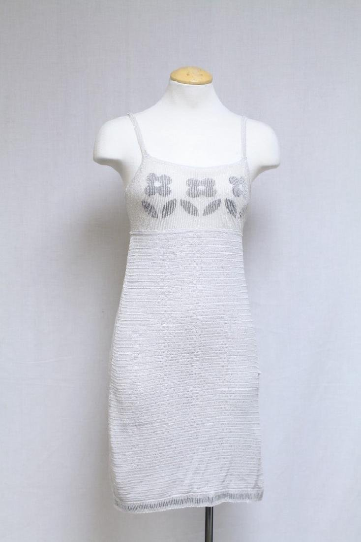 Vintage 2000s Moschino Cheap & Chic Beaded Knit Dress