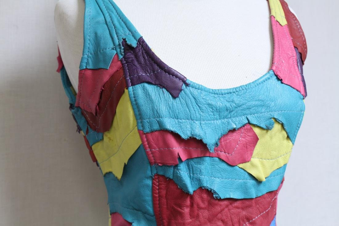 Vintage 1980s Leather Tank Top - 2