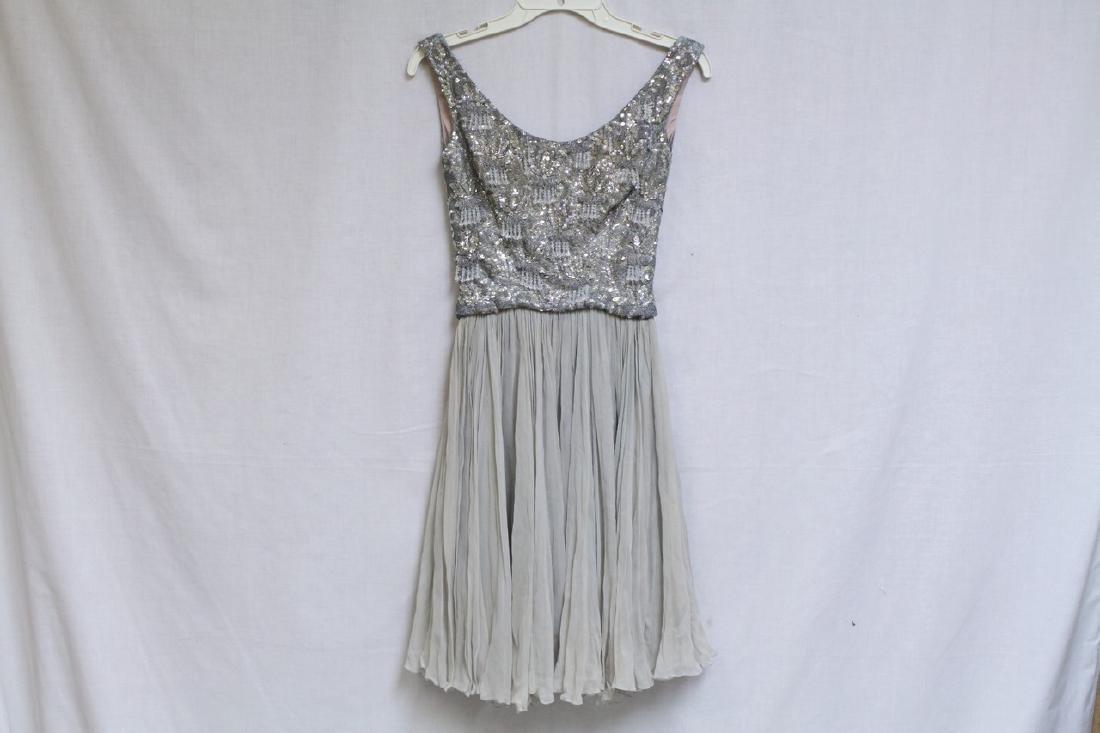 Vintage 1960s Lillie Rubin Beaded Chiffon Dress