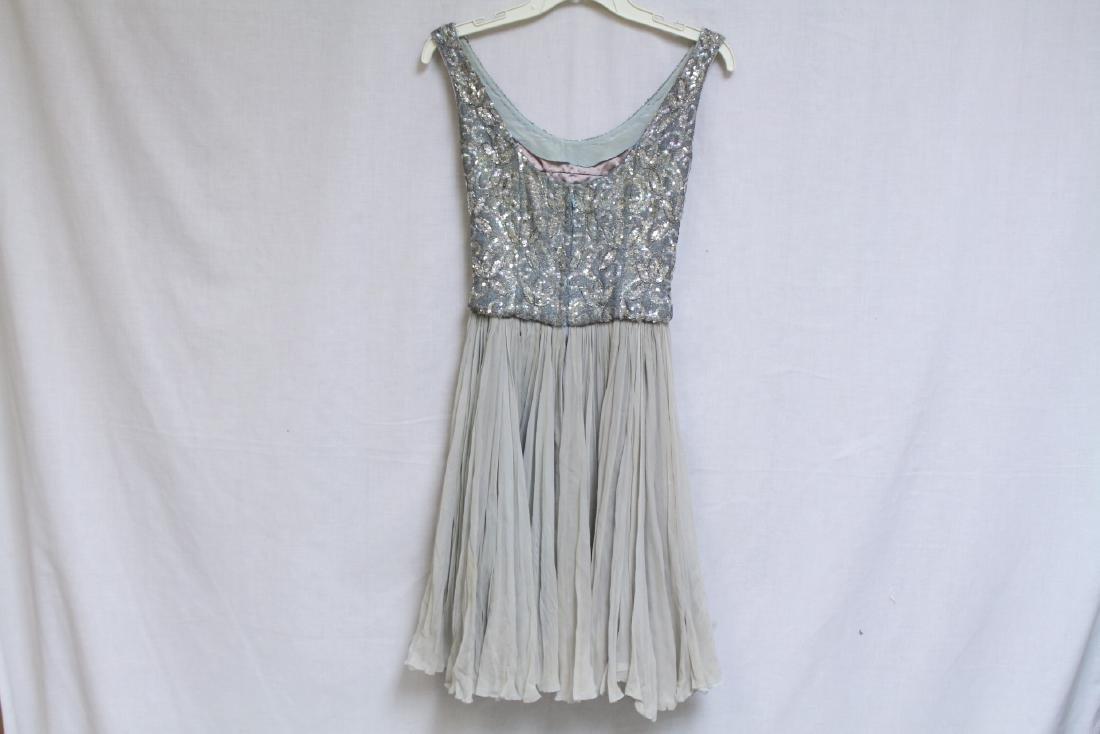 Vintage 1960s Lillie Rubin Beaded Chiffon Dress - 4