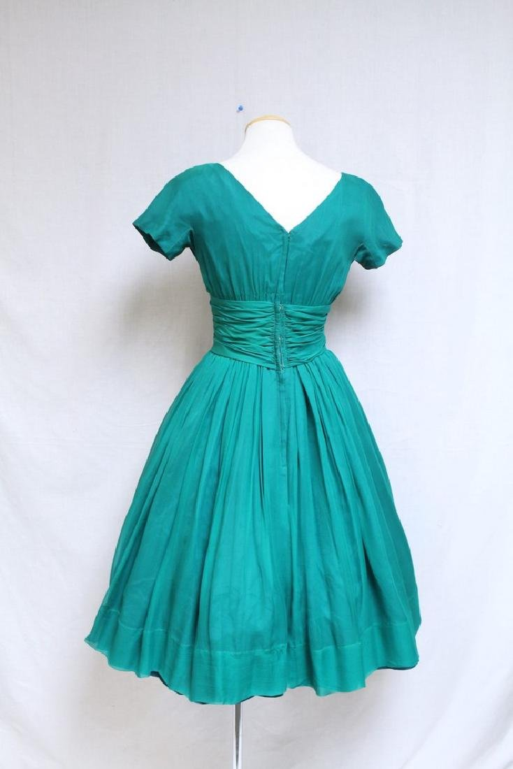 Vintage 1960s Gigi Young Green Chiffon Dress - 3