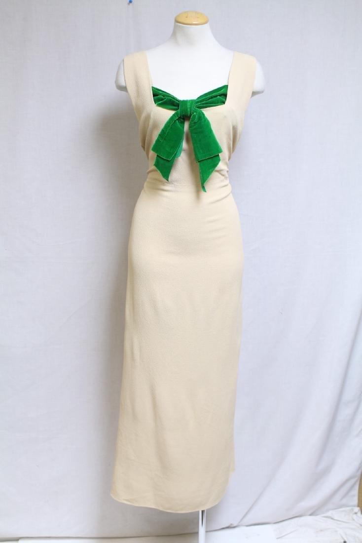 Vintage 1930s Jay Thorpe Crepe Gown