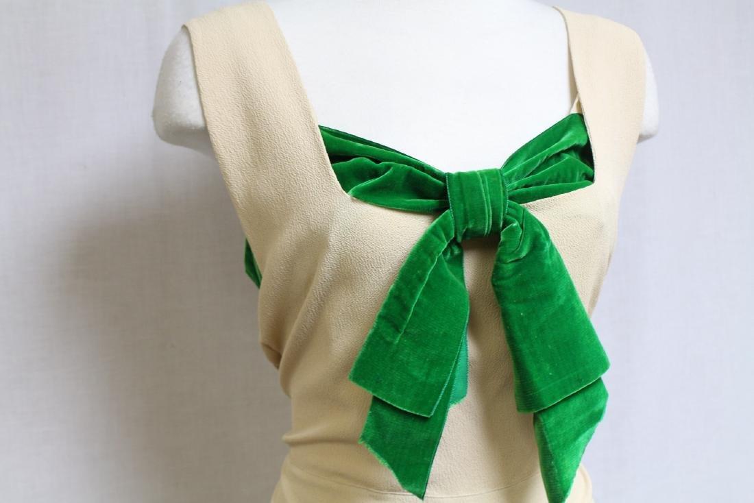 Vintage 1930s Jay Thorpe Crepe Gown - 2