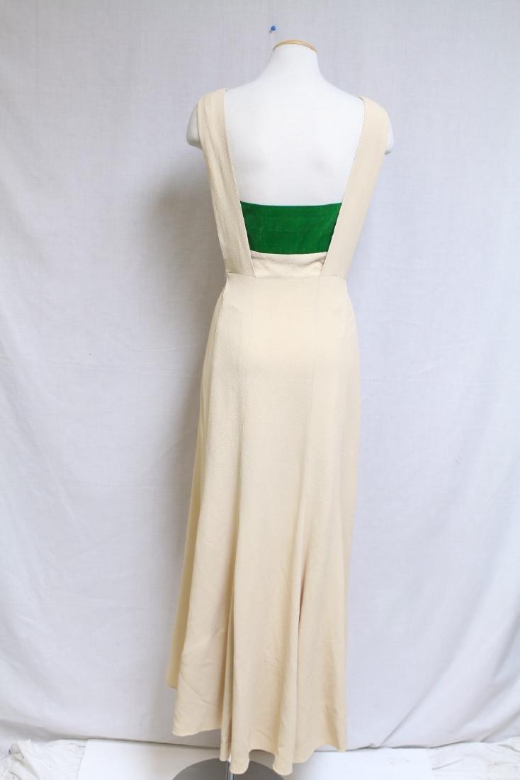 Vintage 1930s Jay Thorpe Crepe Gown - 3