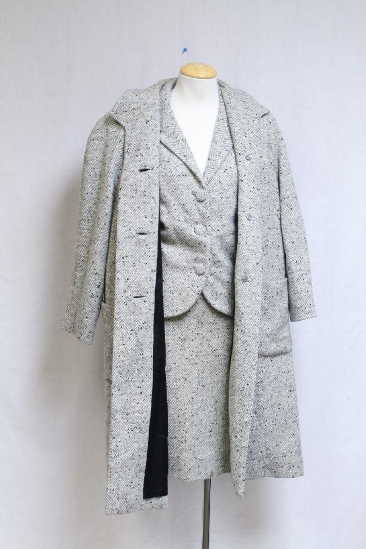 Vintage 1960s Wool Tweed 3 Piece Outfit