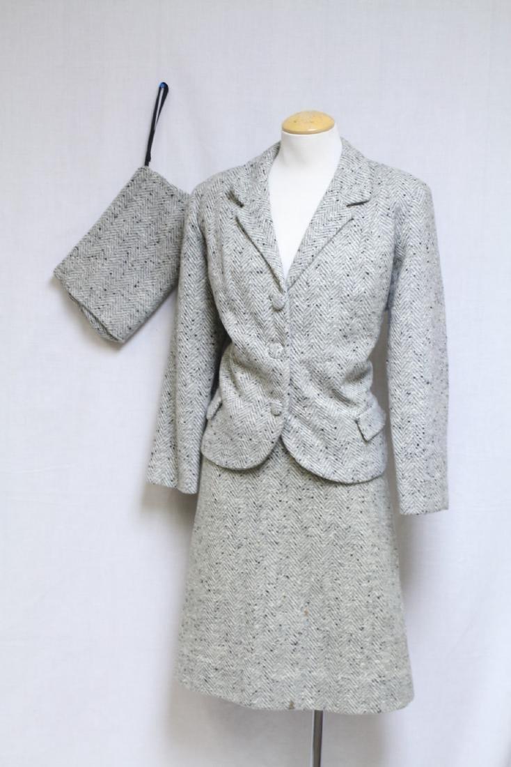 Vintage 1960s Wool Tweed 3 Piece Outfit - 4