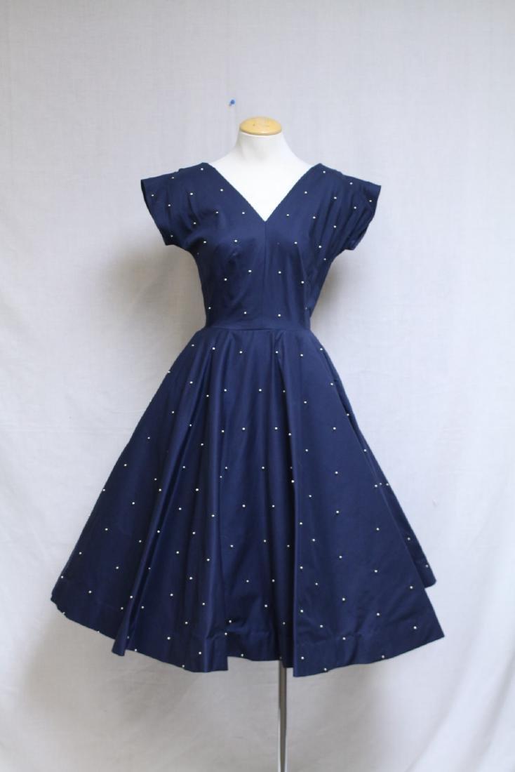 Vintage 1950s Mr. Mort Studded Dress