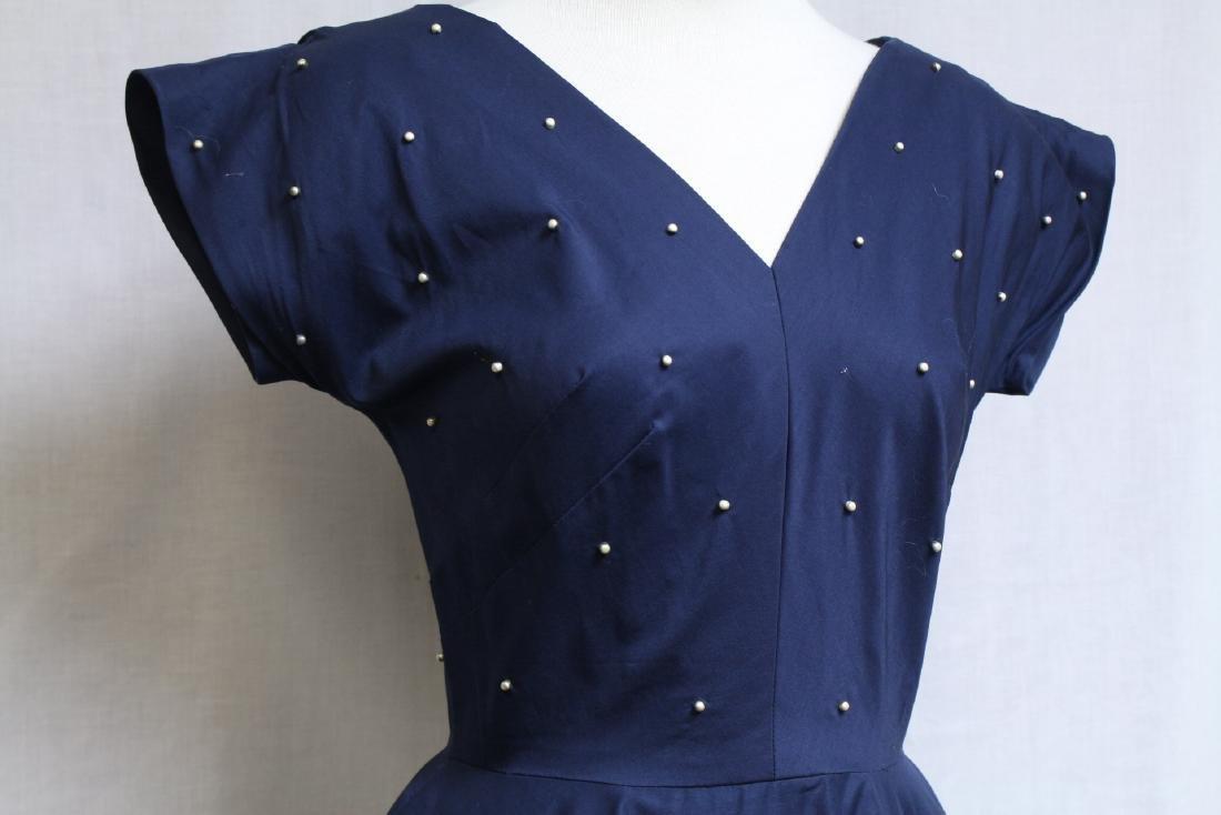 Vintage 1950s Mr. Mort Studded Dress - 2