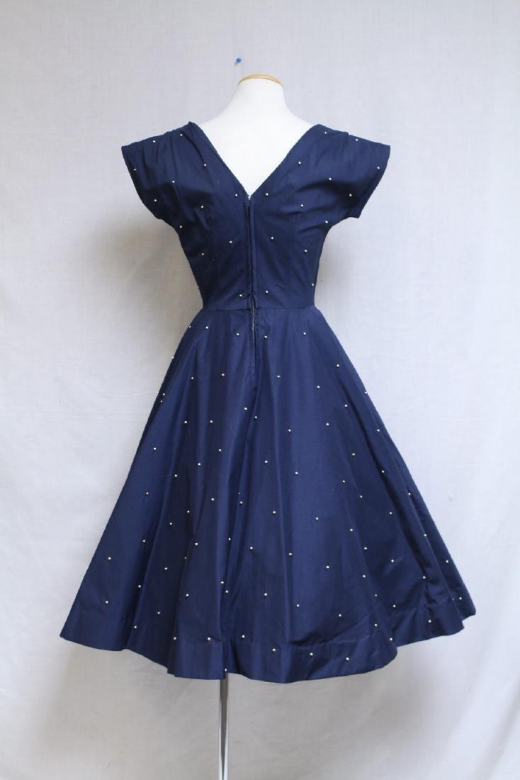 Vintage 1950s Mr. Mort Studded Dress - 3