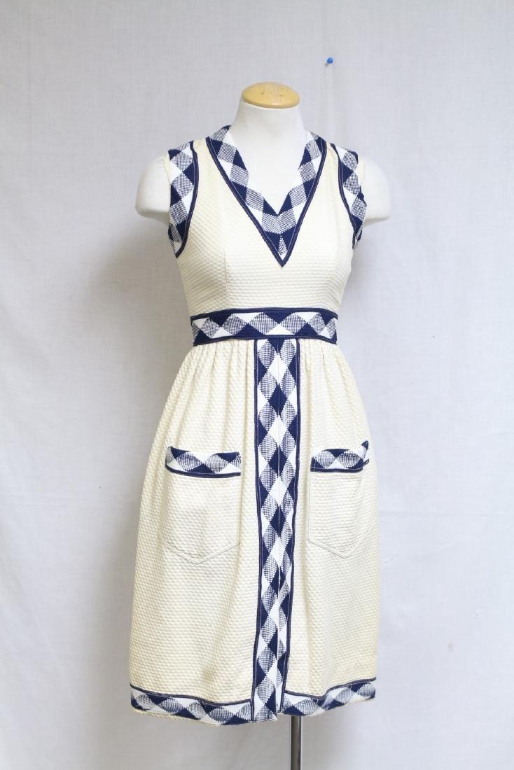 Vintage 1960s Oscar de la Renta Cotton Dress