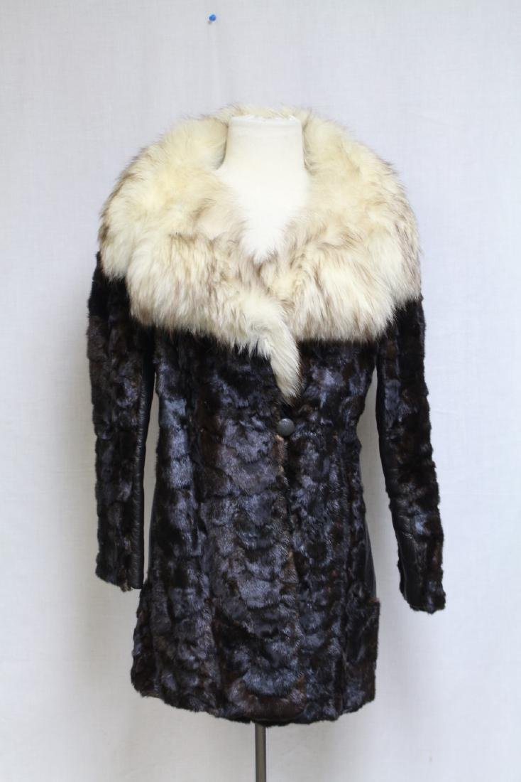 Vintage 1960s Oleg Cassini Fur Coat