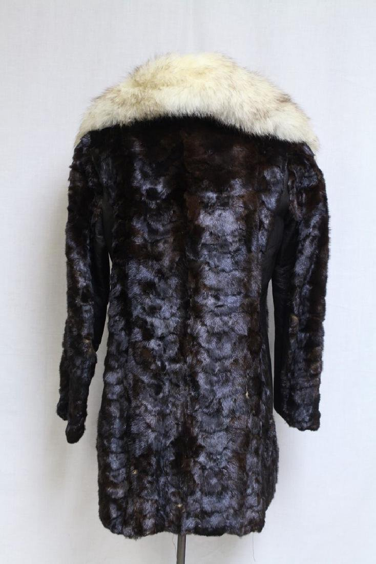 Vintage 1960s Oleg Cassini Fur Coat - 4