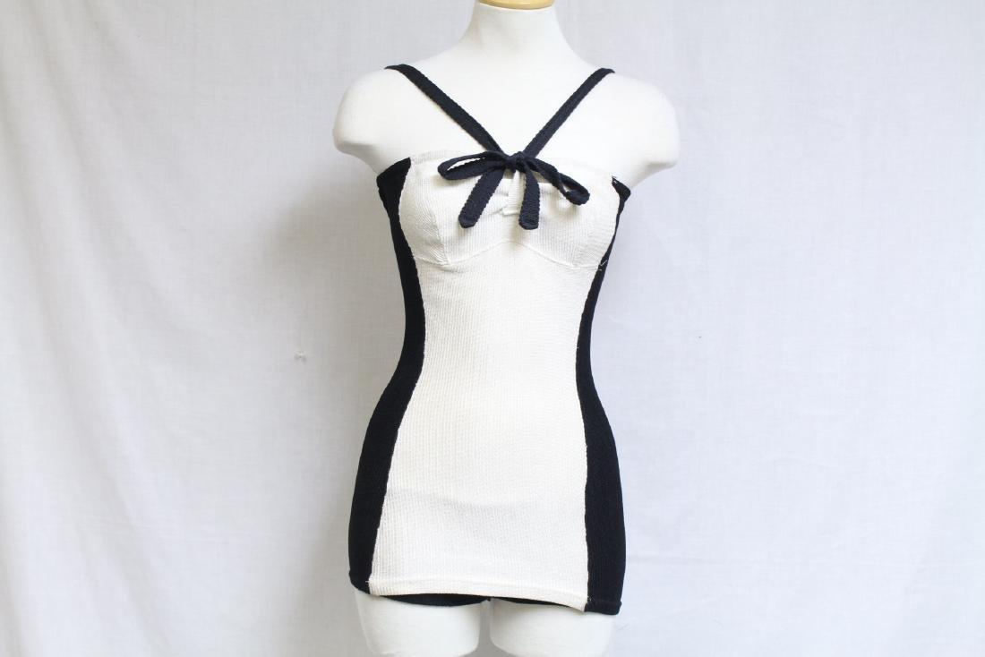 Vintage 1940s Jane Irwill Color Block Swimsuit