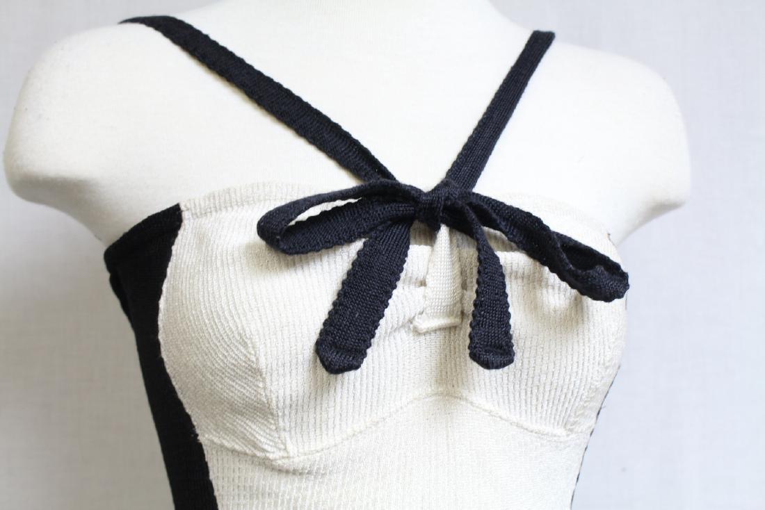 Vintage 1940s Jane Irwill Color Block Swimsuit - 2