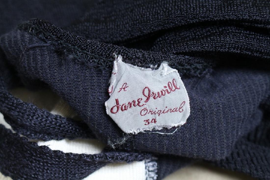 Vintage 1940s Jane Irwill Color Block Swimsuit - 4