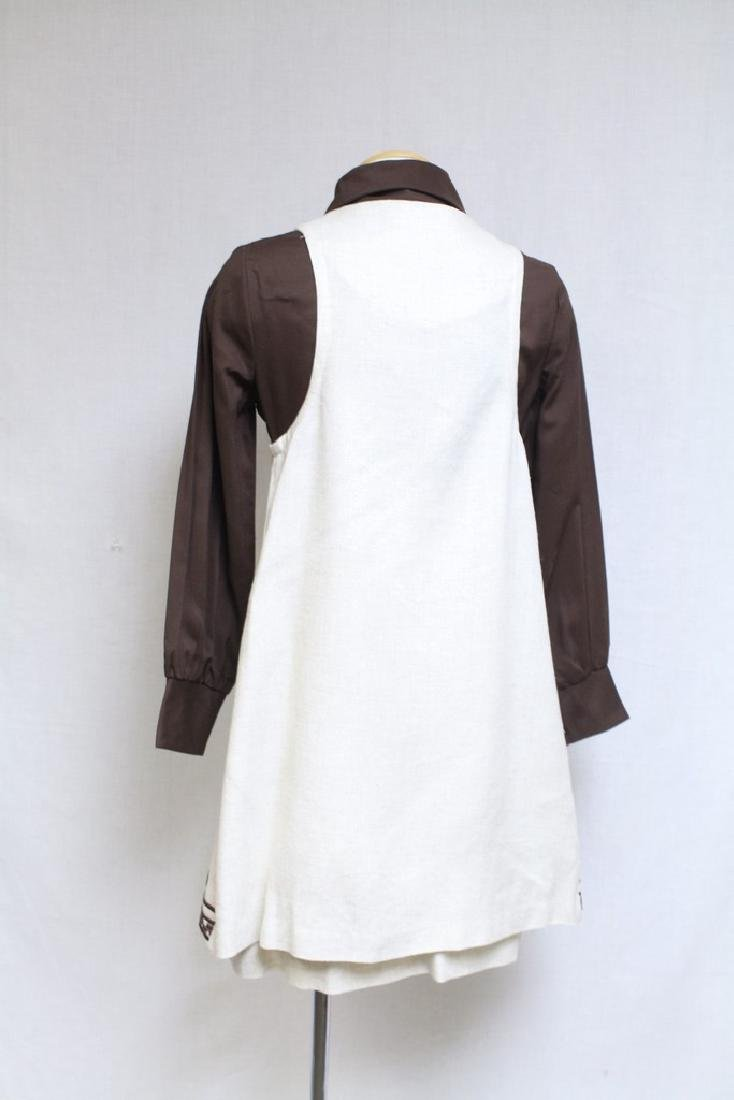 Vintage 1970s Brown & Beige Skirt with Vest - 3
