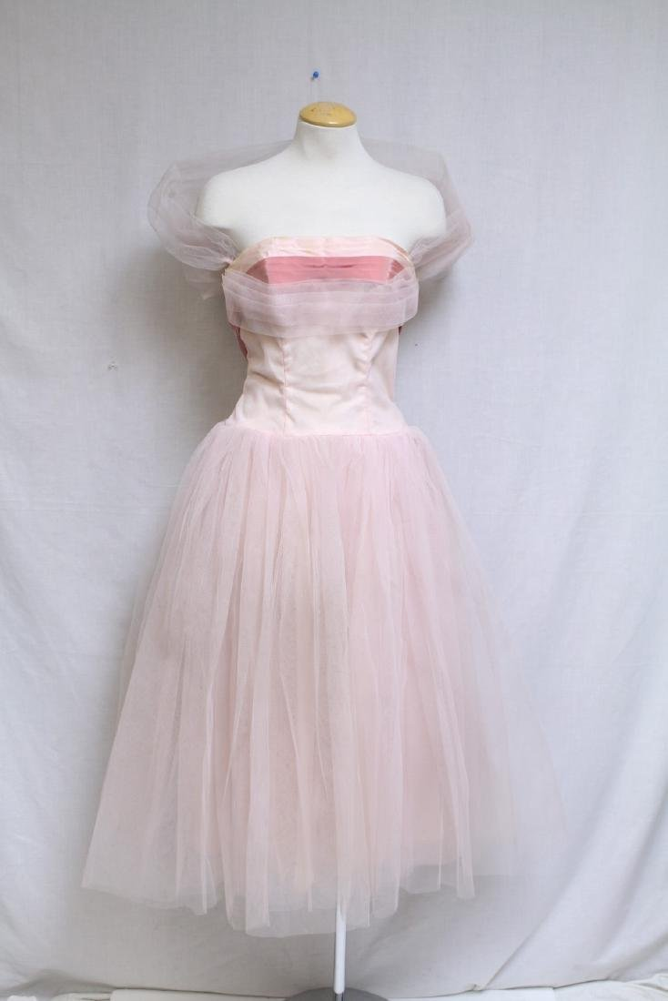 Vintage 1960s Pink Tulle Party Dress
