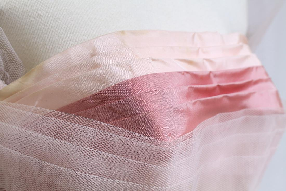 Vintage 1960s Pink Tulle Party Dress - 3