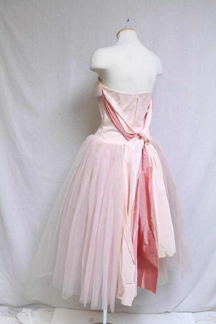 Vintage 1960s Pink Tulle Party Dress - 6