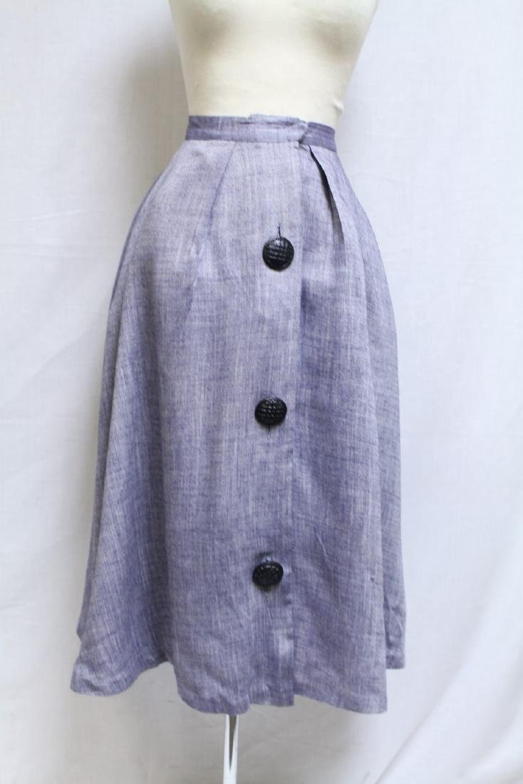 Vintage 1950s Chambray Skirt