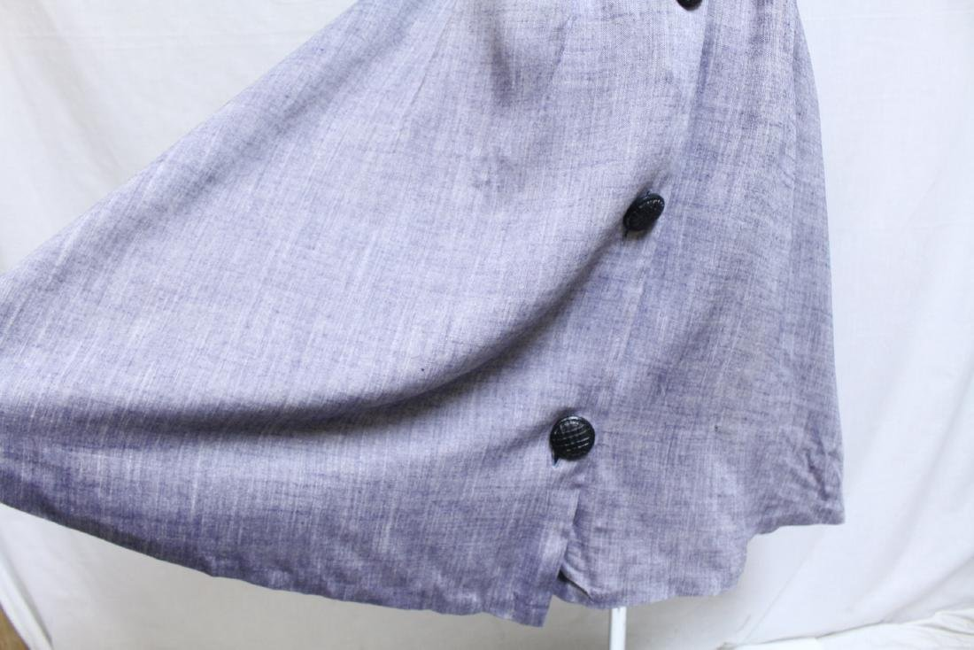 Vintage 1950s Chambray Skirt - 2