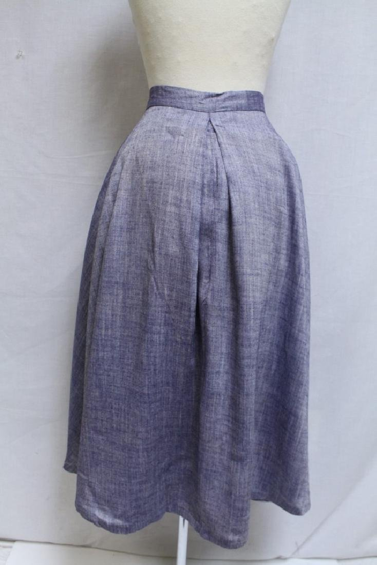 Vintage 1950s Chambray Skirt - 4