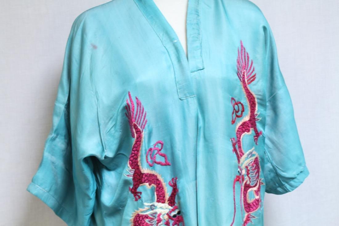 Vintage 1940s Reversible Embroidered Kimono Robe - 2