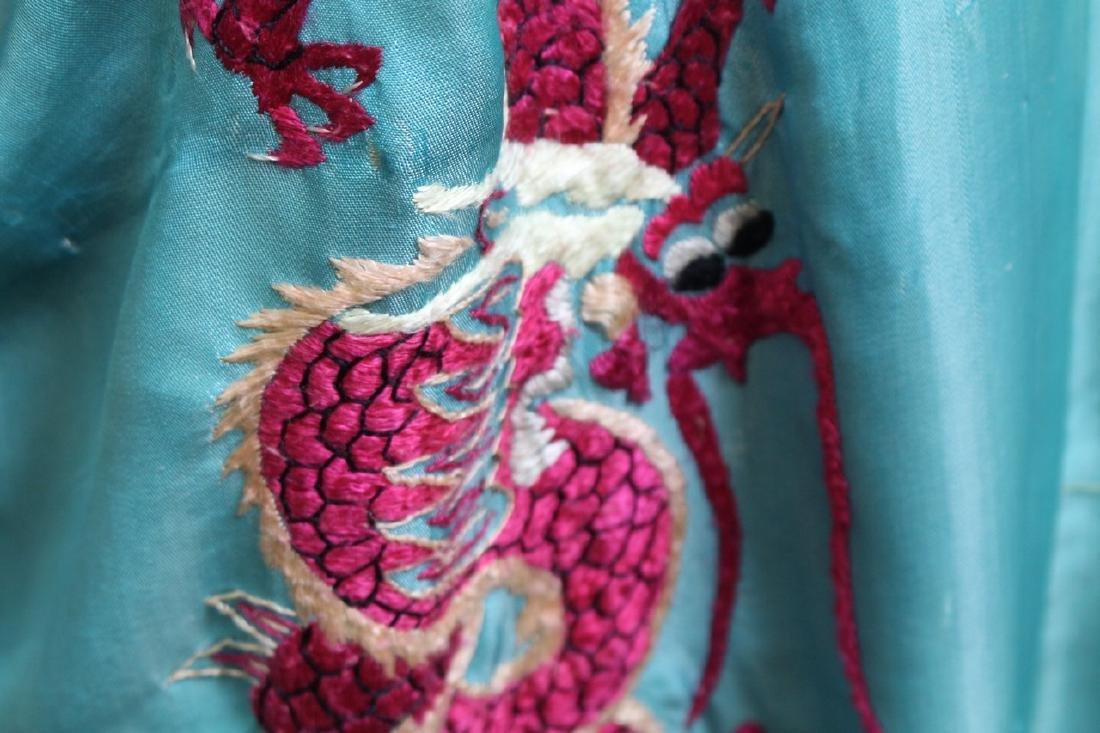 Vintage 1940s Reversible Embroidered Kimono Robe - 4