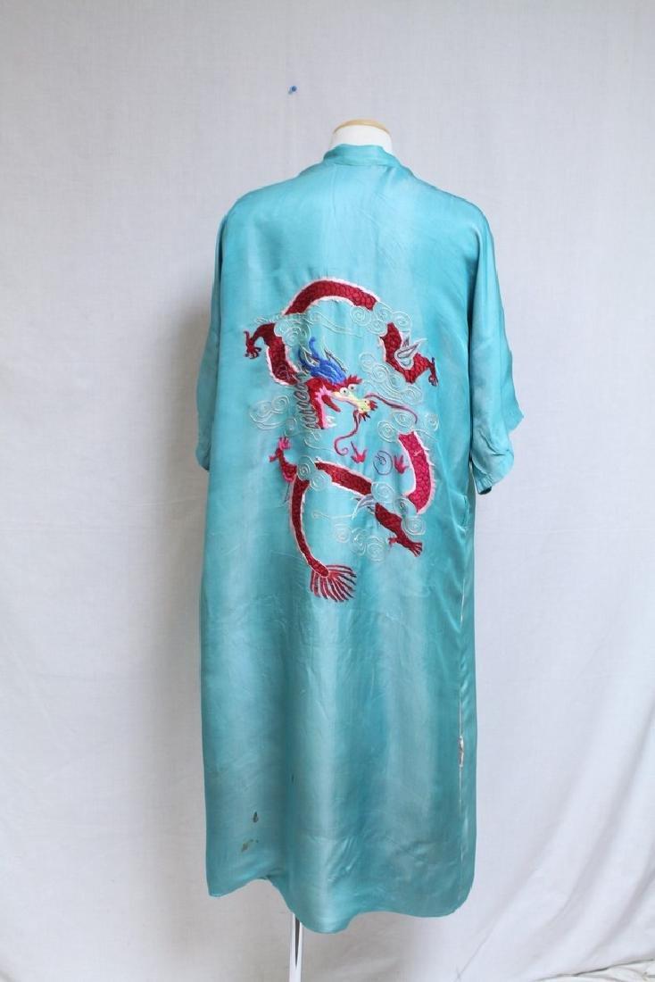 Vintage 1940s Reversible Embroidered Kimono Robe - 5