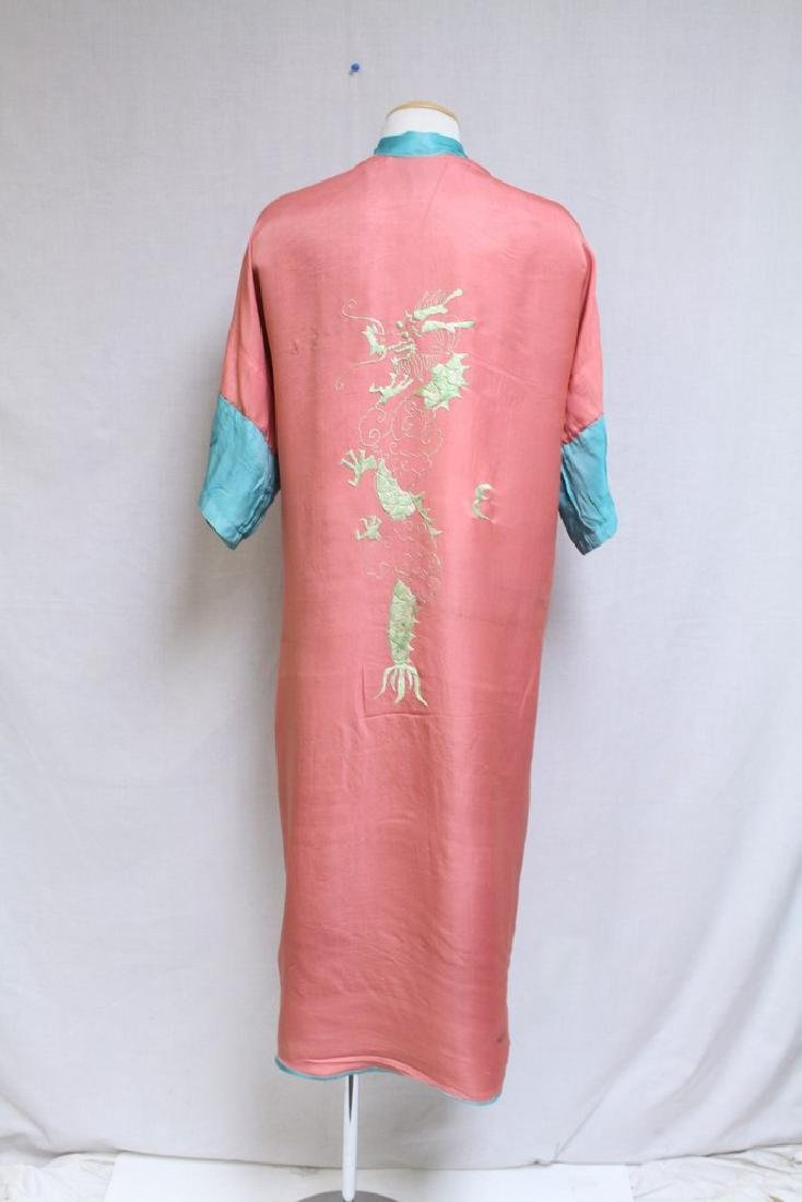 Vintage 1940s Reversible Embroidered Kimono Robe - 8