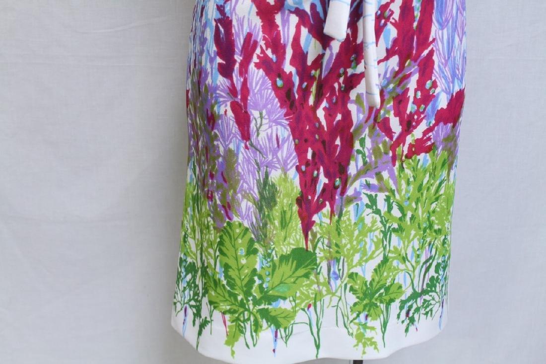 Vintage 1960s Floral Print Shift Dress - 2