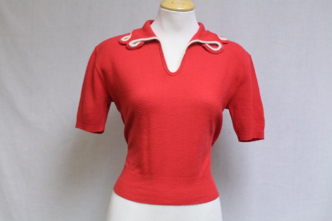 Vintage 1960s Red Knit Sweater