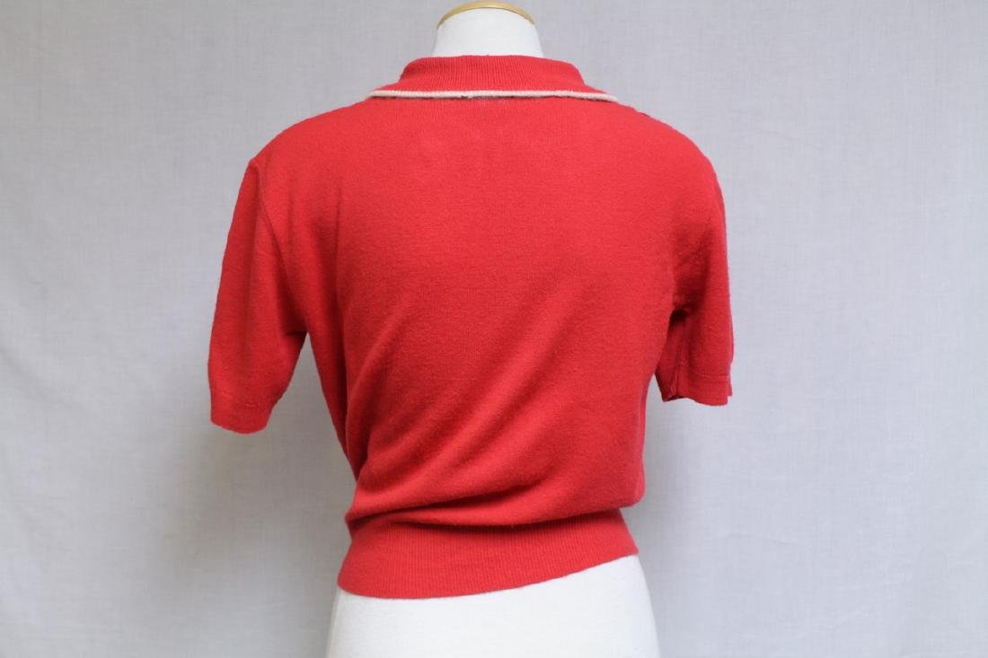 Vintage 1960s Red Knit Sweater - 3