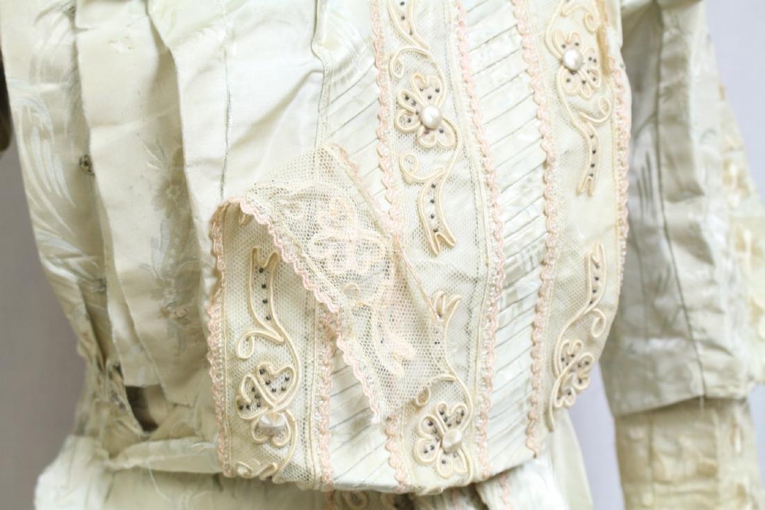 Vintage 1800s Silk & Lace Bodice - 2