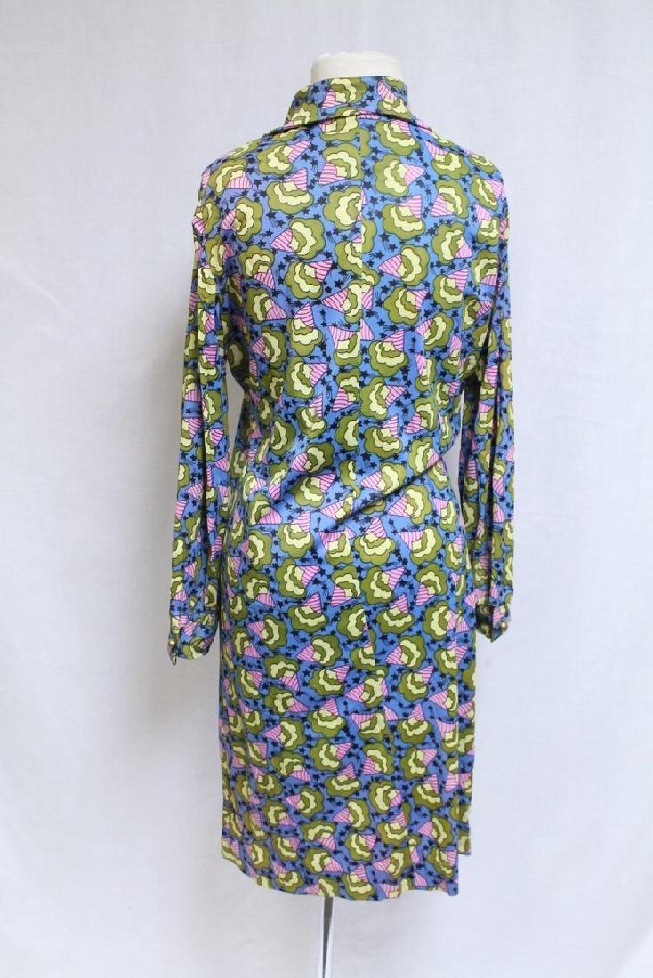 Vintage 1970s Leonard Tuttman Novelty Print Dress - 3