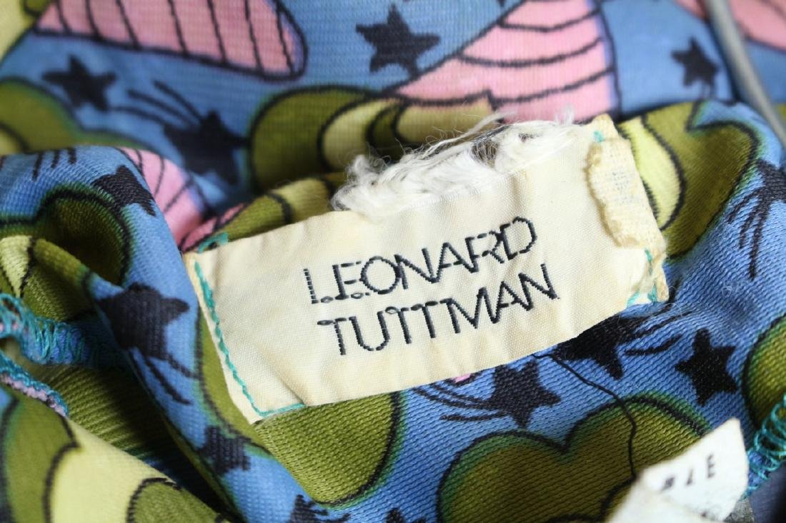 Vintage 1970s Leonard Tuttman Novelty Print Dress - 4