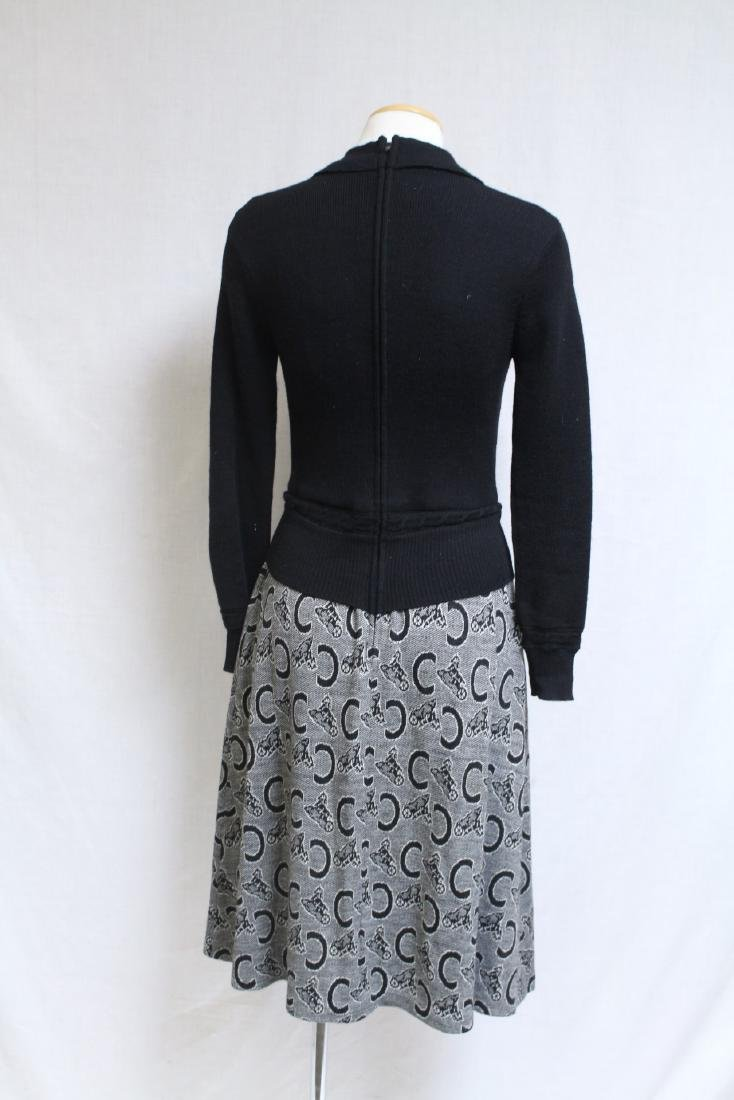 Vintage 1970s Horseshoe Knit Dress - 4